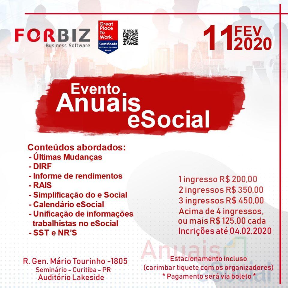 Evento Anuais eSocia 2020