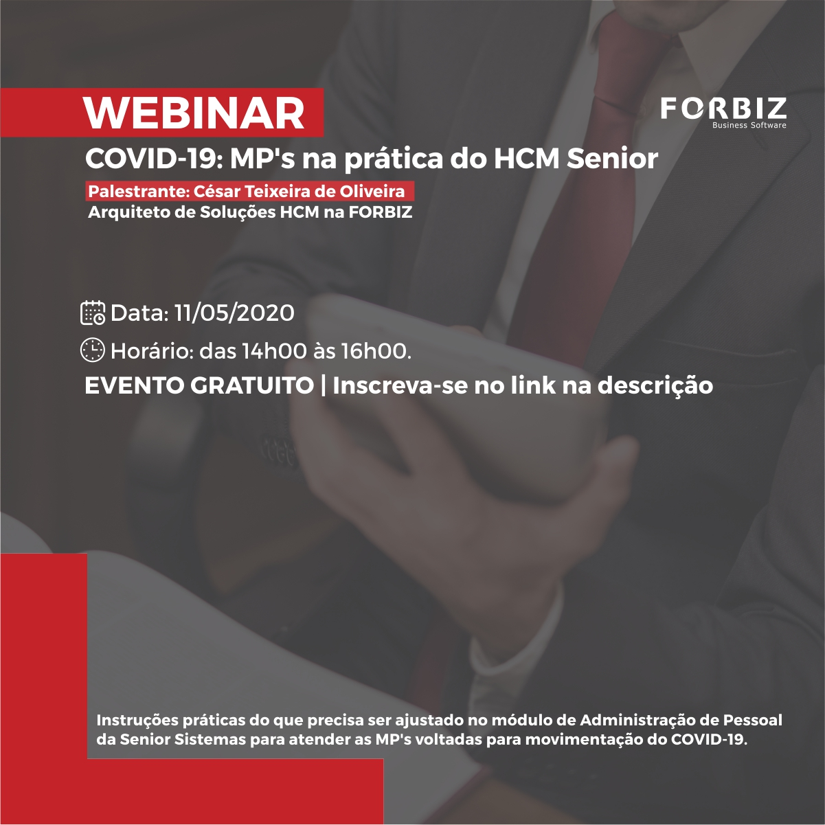 Webinar | COVID-19: MP's na prática do HCM Senior
