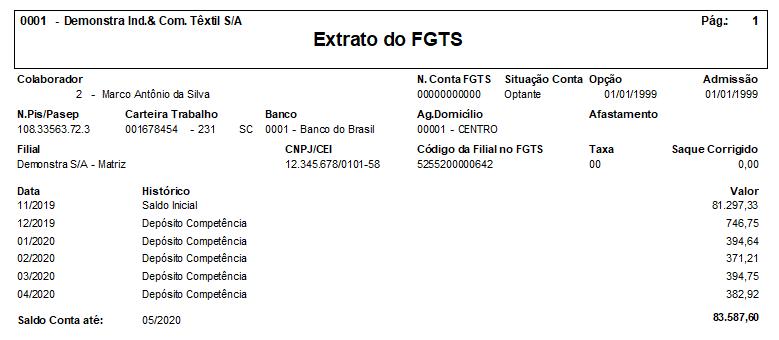 Controle do Saldo do FGTS do Colaborador no HCM da Senior 7