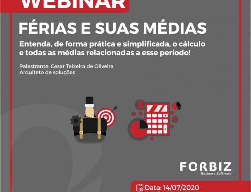 """Webinar """"Férias e suas Médias"""" com o HCM da Senior"""