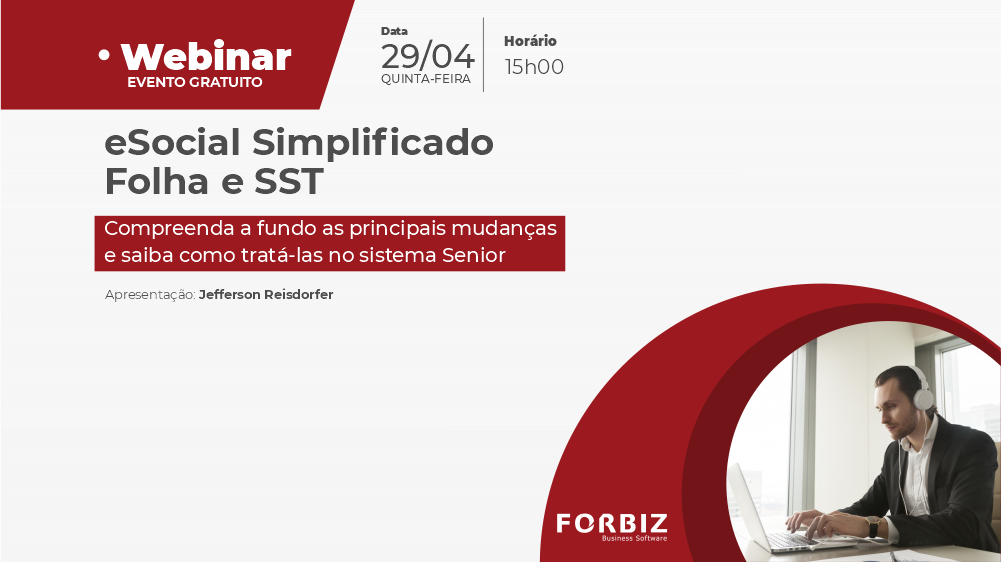 Webinar eSocial Simplificado Folha e SST - Banner